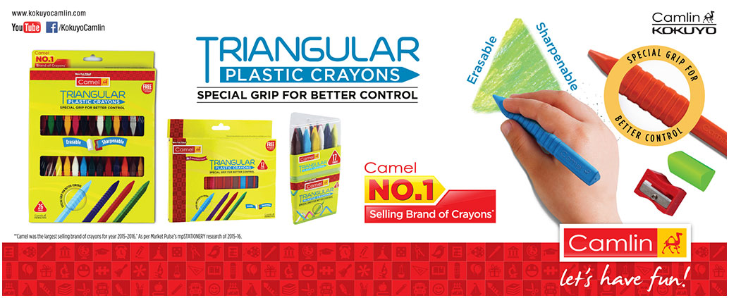 Triangular Plastic Crayons: – Best to teach grip control